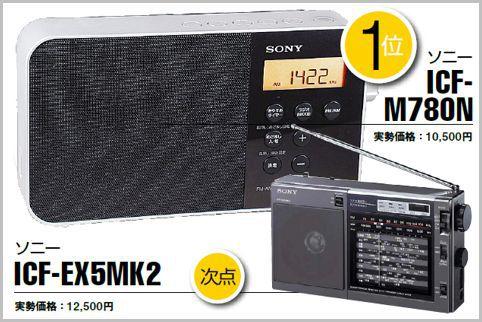 AMラジオを聴くならソニーの「ICF-M780N」