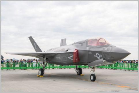 フレンドシップデーに海兵隊仕様ステルス戦闘機